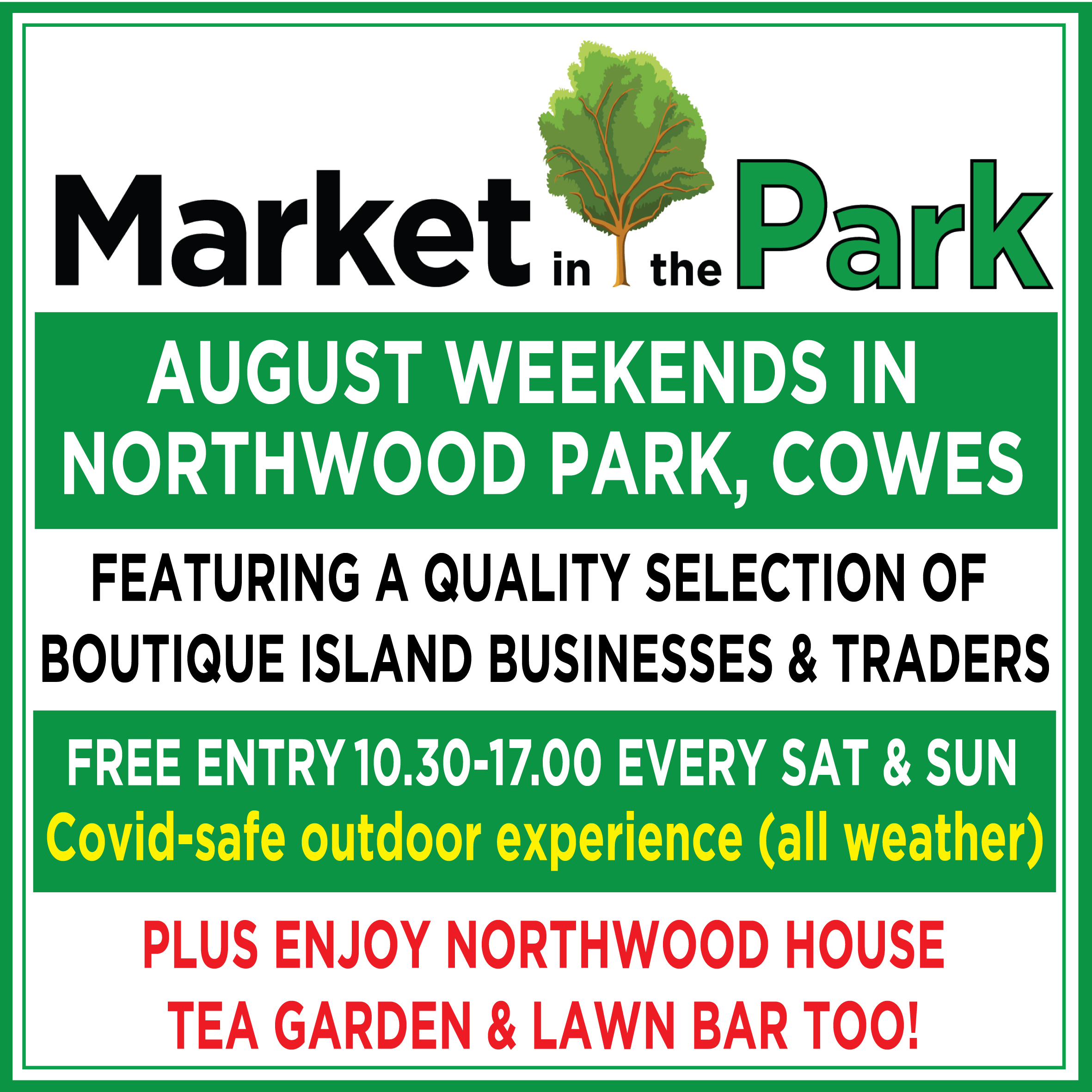 Market in the Park- August Weekends